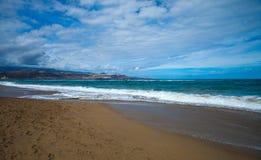 Las Plamas de Gran Canaria, Las Canteras Royalty Free Stock Photo
