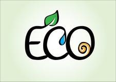 Las plantas, el agua y el sol accionan símbolo del eco fotografía de archivo