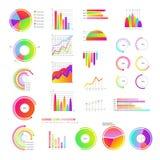 Las plantillas del gráfico de negocio fijaron - la colección de colorido alrededor y de cartas de barra libre illustration