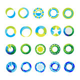 Las plantillas del logotipo fijaron muestras y símbolos abstractos del círculo Fotos de archivo