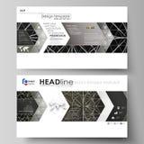 Las plantillas del negocio en el formato de HD para la presentación resbalan Disposiciones editable fáciles del vector en diseño  Imágenes de archivo libres de regalías