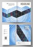 Las plantillas del negocio para el BI doblan el folleto, revista, aviador, folleto, informe Cubra el diseño, disposición abstract Fotografía de archivo libre de regalías