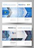 Las plantillas del negocio para el BI doblan el folleto, revista, aviador, folleto, informe Cubra el diseño, disposición abstract Fotos de archivo