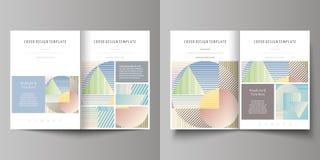 Las plantillas del negocio para el BI doblan el folleto, revista, aviador, folleto Plantilla de la cubierta, disposición abstract Fotos de archivo