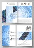 Las plantillas del negocio para el BI doblan el folleto, revista, aviador, folleto, informe Cubra el diseño, disposición abstract Imagenes de archivo