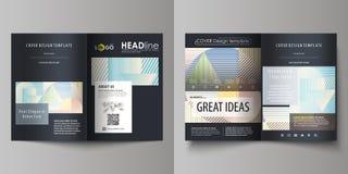 Las plantillas del negocio para el BI doblan el folleto, revista, aviador, folleto Plantilla de la cubierta, disposición abstract Imagenes de archivo