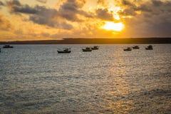 Las playas-Pontal brasileñas hacen Coruripe, Alagoas Foto de archivo