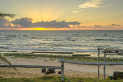 Las playas-Pontal brasileñas hacen Coruripe, Alagoas Fotos de archivo libres de regalías