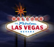 las podpisują Vegas Zdjęcie Royalty Free