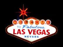 las podpisują Vegas powitanie Obrazy Stock