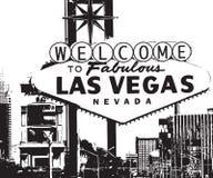 las podpisują Vegas powitanie royalty ilustracja