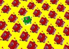 Las porciones de robot dirigen el fondo stock de ilustración