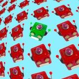 Las porciones de robot dirigen el fondo foto de archivo libre de regalías