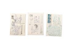 Las postales rumanas viejas apoyan Imágenes de archivo libres de regalías