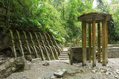 Las Pozas alias Edward James Gardens in Mexiko lizenzfreie stockbilder