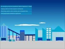 Las prácticas de proteger a empleados expusieron a los peligros tales como seguridad eléctrica, profesional stock de ilustración
