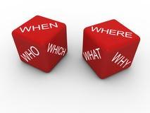 Las preguntas cortan en cuadritos Imagen de archivo