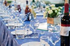 Las preparaciones para el banquete o la comida fría Una recepción de la gala abastecimiento Fotografía de archivo