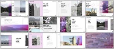 Las presentaciones del concepto del viaje diseñan, las plantillas del vector de la cartera con los elementos gráficos en blanco P stock de ilustración