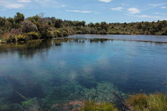 Las primaveras de Waikaropupu Fotografía de archivo