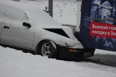 Las primeras nevadas principales en Vladivostok. Imágenes de archivo libres de regalías
