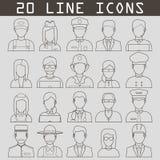 Las profesiones Vector iconos planos Foto de archivo