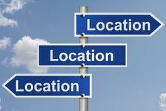 Las propiedades inmobiliarias están todo sobre la localización Imagen de archivo