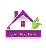 Las propiedades inmobiliarias modernas contienen el logotipo Fotografía de archivo libre de regalías