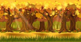 Las przy jesieni tłem ilustracja wektor