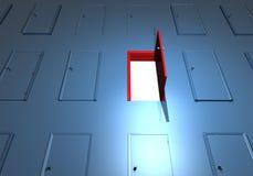 Las puertas abren el éxito dominante de la pared Foto de archivo