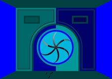 Las puertas con la parte radial entran ilustración del vector