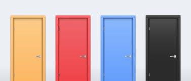 Las puertas de diversos colores Foto de archivo