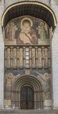 Las puertas de la catedral del Kremlin de la suposición Foto de archivo libre de regalías