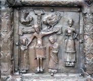 Las puertas de Magdeburgo - las puertas del St Sophia Cathedral en V Foto de archivo
