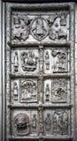 Las puertas de Magdeburgo - las puertas del St Sophia Cathedral en V Imágenes de archivo libres de regalías