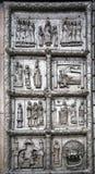 Las puertas de Magdeburgo - las puertas del St Sophia Cathedral en V Imagenes de archivo
