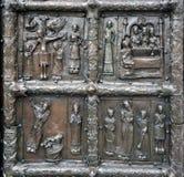 Las puertas de Magdeburgo - las puertas del St Sophia Cathedral en V Fotografía de archivo