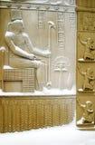 Las puertas del egipcio bajo nieve Foto de archivo