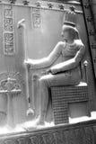Las puertas del egipcio bajo nieve Imagen de archivo libre de regalías