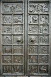 Las puertas principales de la catedral de Sophia del santo Imagen de archivo