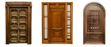 Las puertas viejas fijaron 2 fotografía de archivo
