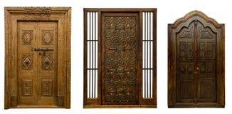 Las puertas viejas fijaron 5 fotografía de archivo libre de regalías