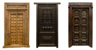 Las puertas viejas fijaron 9 imágenes de archivo libres de regalías