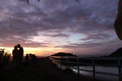 Las puestas del sol son hermosas imágenes de archivo libres de regalías