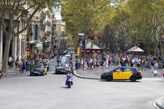 Las Ramblas Barcellona Fotografia Stock Libera da Diritti