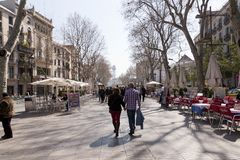 Las Ramblas in Barcelona Royalty Free Stock Photos