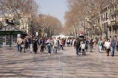 Las Ramblas in Barcelona Stock Images