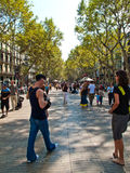 Las Ramblas, Barcelona Stock Photography