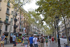 Las Ramblas Royalty Free Stock Images