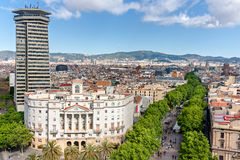 Las Ramblas in Barcelona Royalty Free Stock Photo